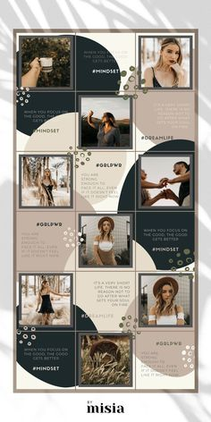 Instagram Puzzle Template for Canva Instagram Template