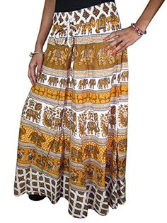 Mogul Long Skirt , Brown Elephants , Cotton Skirts, Vegetables Dyes, Ethnic Chic Mogul Interior http://www.amazon.com/dp/B014HD4QNM/ref=cm_sw_r_pi_dp_4ty5vb08THRK8
