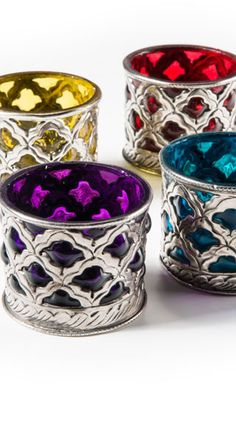 Stunning tea light candle Holders Available in four jewel inspired ...