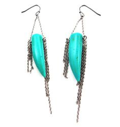 $58.00 Turquoise Silver Earrings