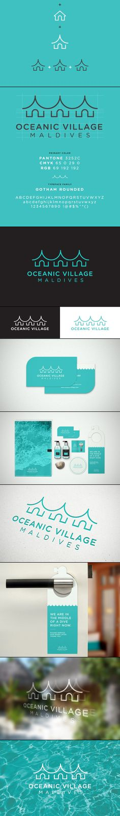 Oceanic Village #Identity #branding #logotipos