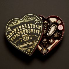 A metaphysical display of affection for Valentines Day. I need this vegan chocolate box in my life now.