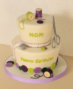 Seamstress Cake by Cakebox Special Occasion Cakes, via Flickr