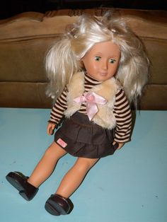 "BATTAT Our Generation 18"" Doll Platinum blonde green eyes GUC!! #BattatOurGenertion #Dolls"