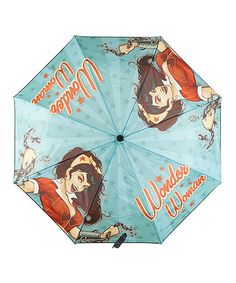 Look at this #zulilyfind! Baby Blue DC Comics Bombshell Wonder Woman Umbrella #zulilyfinds