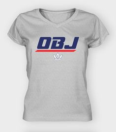 Odell Beckham Jr New York Giants Gear | OBJ Standard Women's Vneck $29.99 #GiantsNation #NYG  --My original design!---