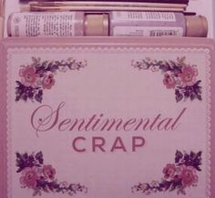 What's in your Sentimental Crap kit? She, she have make up, lotions and make up brushes. Mine? I got pictures of Derelict castles and châteaus. - Love, Grace