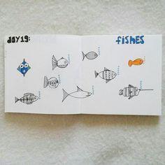 Day 19: fish #sketchbook #creativebug #lisacongdon