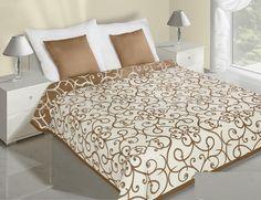 Květinový krémový přehoz na postel oboustranný Hotel Bed, Bed Sets, Bedding Sets, Comforters, Ornament, Quilts, Luxury, Furniture, Design