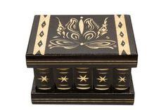 Personalized secret box wood puzzle box puzzel doosje brain teaser painted wooden fantasy jewelry box trinket box hand painted decorated box