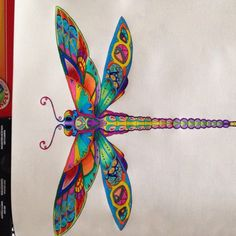 My Version Of Johanna Basfords Dragonfly In Enchanted Forest