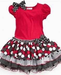 Bonnie Jean Girls Dress, Little Girls Drop-Waist Tier Dress $23.99 thestylecure.com