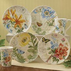 Beautiful Botanical Garden Appetizer Plate collection!