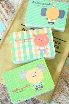 HELLO GEEKS Mini Notebook kawaii cartoon illustrated small pocket memo notebook, £6.00