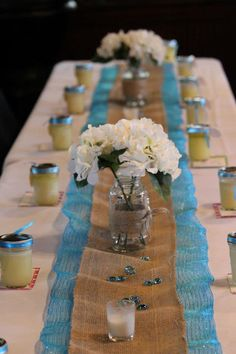 Rustic bridal shower elegance - @Kelly Kraljic this is totes what I envisioned when you were telling me your idea!