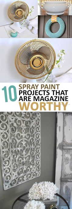 Amazing DIY home decor projects using spray paint! bedroom inspirations diy projects 12 Spray Paint Projects that are Magazine Worthy Diy Home Decor Projects, Easy Home Decor, Handmade Home Decor, Diy Projects To Try, Home Improvement Projects, Cheap Home Decor, Decor Ideas, Diy Ideas, Decor Crafts