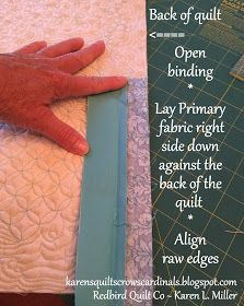 Karen's Quilts, Crows and Cardinals: Tutorial - Mitered and Flanged Machine Binding Free Motion Quilting, Quilting Tips, Quilting Tutorials, Machine Quilting, Jelly Roll Quilt Patterns, Star Quilt Patterns, Sewing Hacks, Sewing Projects, Sewing Tips
