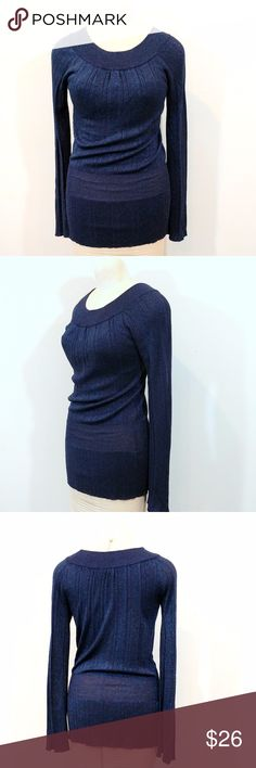 Belldini Sparkling Navy Blue Sweater Up for sale in very good preowned condition Sparkling Navy Blue sweater by Belldini. Size S.  Check out my closet, bundle and give me your offer! Belldini Sweaters