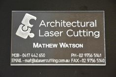 Acrylic business card #etching