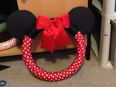 Minnie Mouse wreath...I would do a Mickey Mouse wreath
