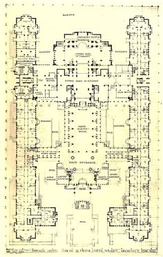 Interlude – Frank Lloyd Wright's Imperial Hotel – Paradise Leased Hotel Architecture, Historical Architecture, Amazing Architecture, Architecture Design, Frank Lloyd Wright Buildings, Imperial Hotel, House Layouts, Building Plans, House Floor Plans
