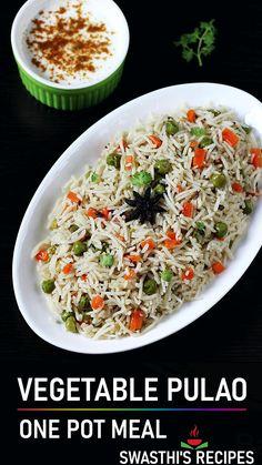 Vegetarian Junk Food, Tasty Vegetarian Recipes, Veg Recipes, Spicy Recipes, Curry Recipes, Indian Food Recipes, Veg Pulao Recipe, Cooking Dishes, Plain Yogurt
