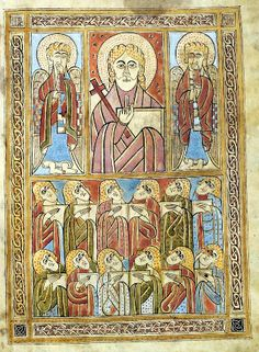 The Gospels of St. Gall, a beautifully illustrated 8th century Irish manuscript