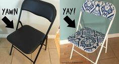 Laptops to Lullabies: Glam folding chair makeover