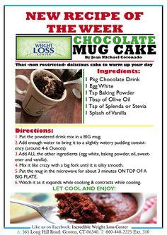Recipe of the Week - Nov 14th - Chocolate Mug Cake