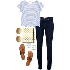 stripes and polka dots, created by izzycirillo on Polyvore