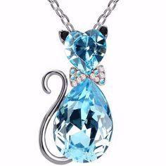 Austrian Crystal Cat Pendant