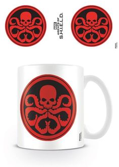 Marvel Agents of Shield - Hydra - Ceramic Coffee Mug. Dishwasher and microwave safe. Capacity: ca 11oz. Official Merchandise. FREE SHIPPING