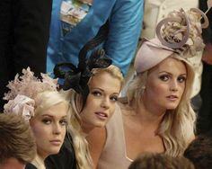 today:      The daughters of Earl Spencer sit in the pews at Westminster Abbey. (Pool / Reuters)  Slideshow: The Royal Wedding    Check out theHeidi Montag-lookalike on the left.