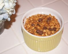 Baked Pumpkin Chocolate Chip Oatmeal | Slender Kitchen