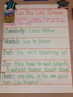 Leo the Late Bloomer...A great way to introduce the reading incentive through summary on the second day. 1st day read the book and do the activity related to late blooming (I haven't decided which one to do yet but I love this for day 2!)