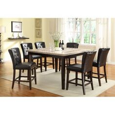Clearance Espresso Brown Modern Dining Table