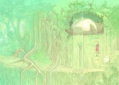 Mugon, Studio Ghibli, Tonari no Totoro, Kusakabe Mei, Totoro, Scenery