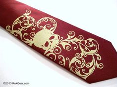 Pirate Style Necktie.. Down low so still fashionable yet hidden from direct view. Much fun.