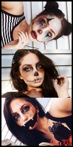 Looking for for ideas for your Halloween make-up? Browse around this site for unique Halloween makeup looks. Unique Halloween Makeup, Halloween Makeup Clown, Halloween Makeup Looks, Halloween Kostüm, Easy Clown Makeup, Halloween Inspo, Halloween Parties, Cute Makeup, Makeup Inspo