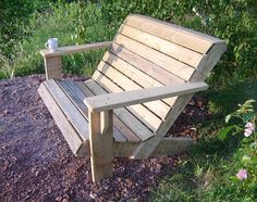 These free Adirondack chair plans will help you build a great looking chair in just a few hours, Build one yourself! Here are 18 adirondack chair diy Adirondack Chair Plans, Outdoor Furniture Plans, Lawn Furniture, Rustic Furniture, Furniture Design, Funky Furniture, Plywood Furniture, Chair Design, Design Design