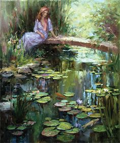 Reflections by Lynn Gertenbach Watercolor Paintings Nature, Seascape Paintings, Watercolor Landscape, Abstract Landscape, Painting Prints, Landscape Paintings, Human Painting, Painting People, Water Lilies Painting