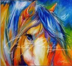 Afbeeldingsresultaat voor abstracte paarden schilderen