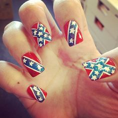 So cute but if i asked the ladies at my nail salon to do this confederate nails reminds me of dukes of hazzard prinsesfo Gallery