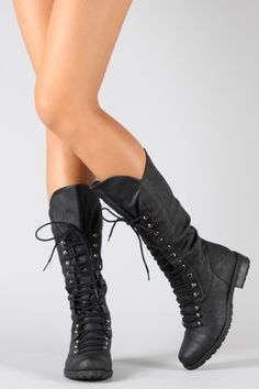 totally in love with this style of boot right now-goes with a lot and makes me feel bad ass:)