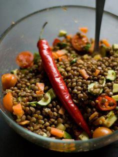 Insalata piccante di lenticchie