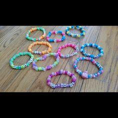 Elegant Bracelets Jewelry Store selections just for you trendy bracelets Rave Bracelets, Pony Bead Bracelets, Diamond Bracelets, Jewelry Bracelets, Loom Bracelets, Pony Beads, Jewellery, Beaded Jewelry, Silver Jewelry