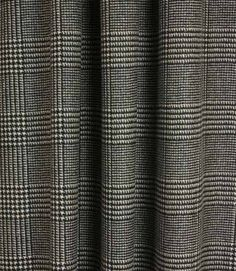 Westminster Check Fabric / Black Ecru   Just Fabrics