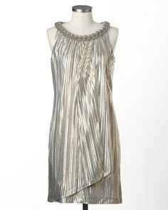 Champagne gold dress, I can see me in this one next year! Too Cute!