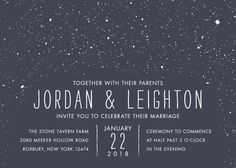 """Snowy Soiree"" - Classical, Whimsical & Funny Wedding Invitations in Midnight by thenickdyer."