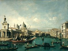 The Entrance to the Grand Canal / by Bernardo Bellotto